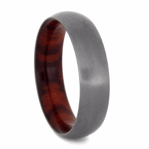 Titanium Wood Sleeve Ring