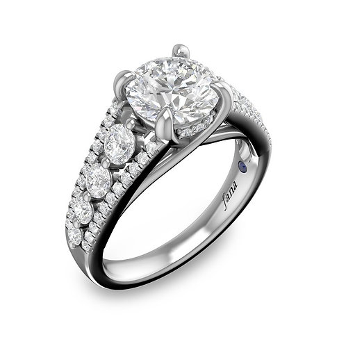 Tapered Shared Prong Engagement Ring