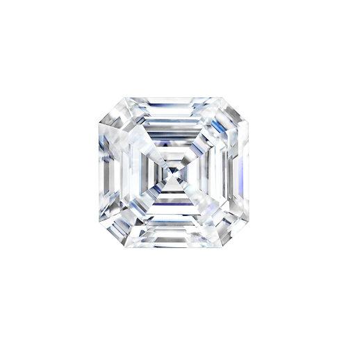 1.20 carats, , Charles & Colvard Forever One™ G-H-I Asscher Moissanite, 6.50 MM