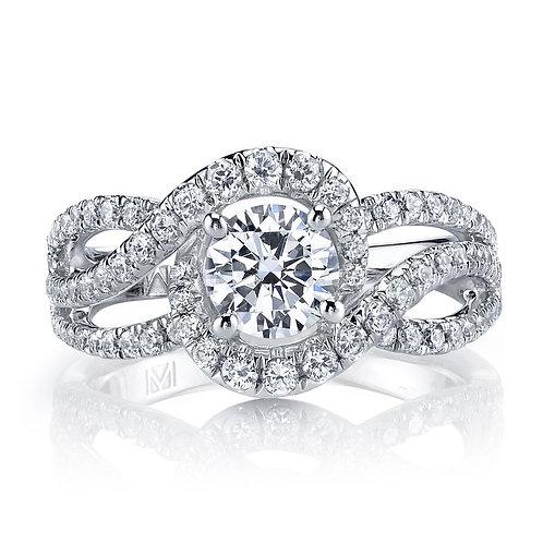 14kt Infinity Twist Design Engagement Ring