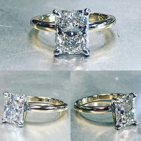 2 plus carat beautiful center stone set