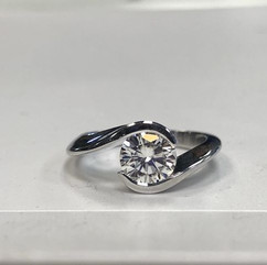 Tension set engagement ring. #tresor #tr