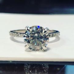 1.73 carat GIA triple x diamond in plati