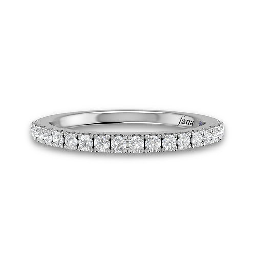 14kt Gold Moissanite Channel Set Band