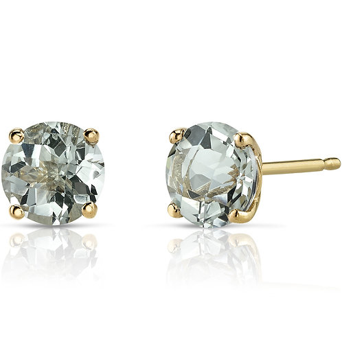 14kt Gold Color Stone Earrings
