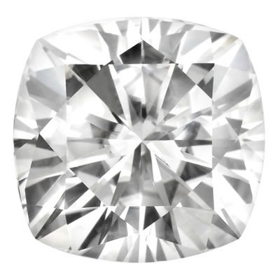 6.5mm = 1.30ct VVS1 Cushion Cut Colorless Certified NEO Moissanite