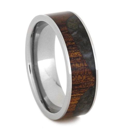 Wood  Dinosaur Titanium Ring