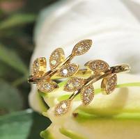 Beautiful leaf design pattern ring finis
