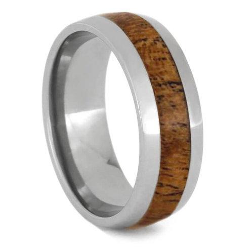 Wood Titanium Ring