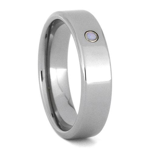 Opal Titanium Ring