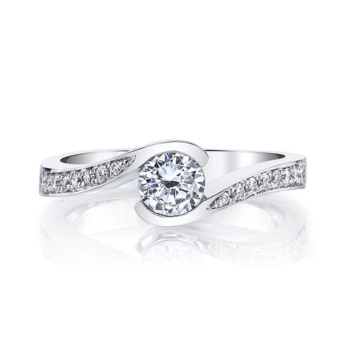 14kt Infinity Twist Design Engagement Ring