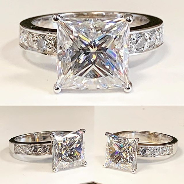 5 carat plus in this engagement ring fin