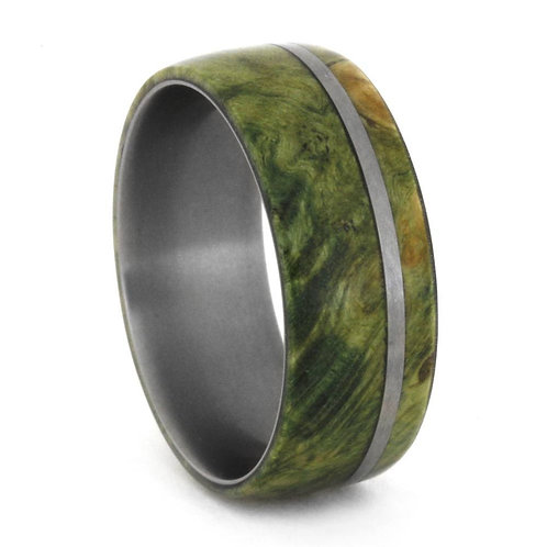 Box Elder Wood Titanium Ring