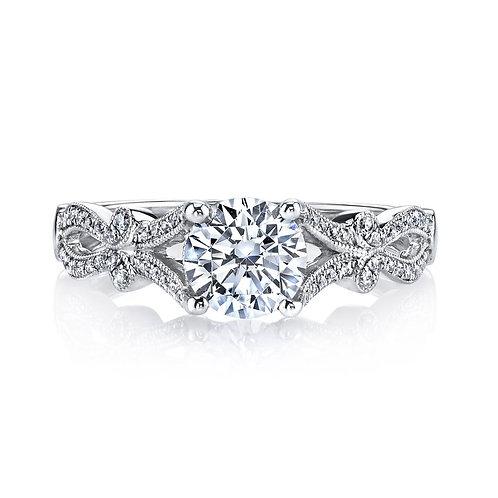 14kt Gold Art Deco Design Engagement Ring