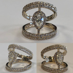 Unique diamond set fresh from tresor, of