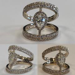 Unique diamond set fresh from tresor, of