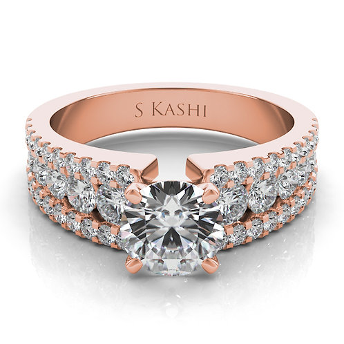 14kt Rose Gold Moissanite Engagement Ring