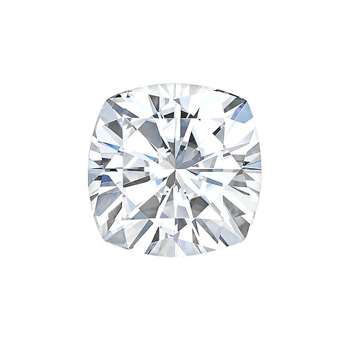 2.1 carats, Charles & Colvard Forever One™ D-E-F Cushion Moissanite, 8.00 MM