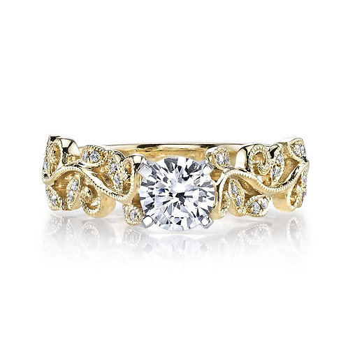 14kt Gold Floral Design Engagement Ring