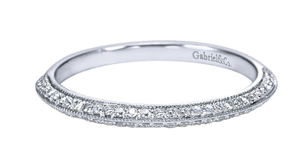 14kt Gold Moissanite Pave Wedding Band