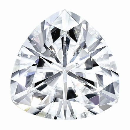 0.74 CARATS, MOISSANITE, Pure Light, E, F Color, 6.5MM TRILLION