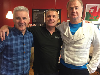 Andrew Thomas and Owen Teale. Both were in Cardiff supporting a charity walk for Prostate Cancer