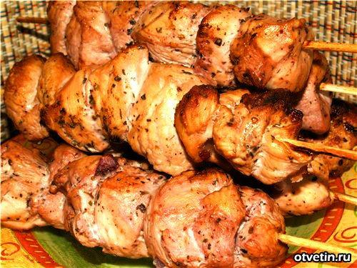 Шашлык из куриного филе 100гр