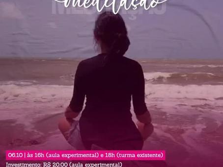 Aula experimental de meditação