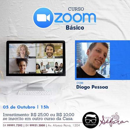 Novas matrículas - workshop de Zoom Básico com Diogo Braga Pessoa
