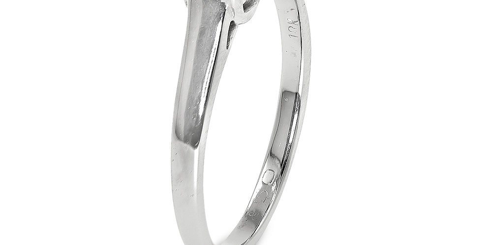 PRE OWNED: 18ct White Gold 0.25 Diamond Solitaire Ring
