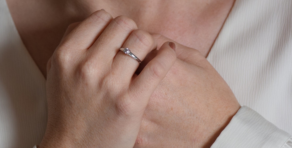 18ct White Gold 0.25 Diamond Solitaire Ring