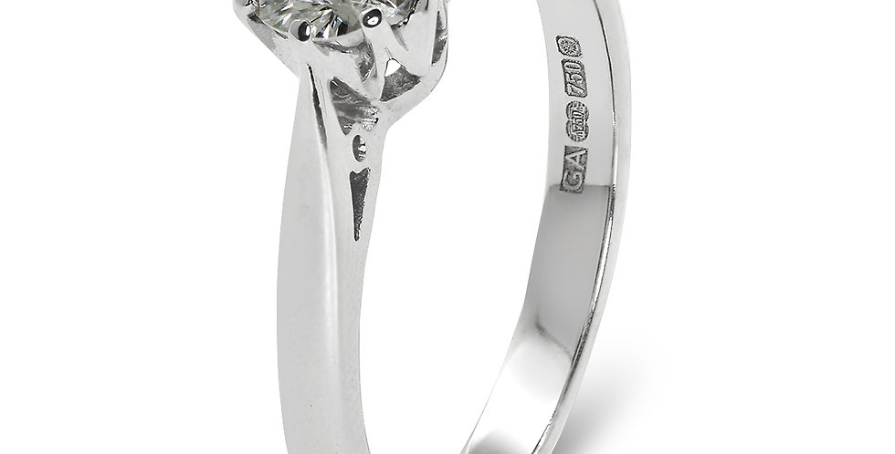 PRE OWNED: 18ct White Gold 0.75ct Diamond Solitaire Ring