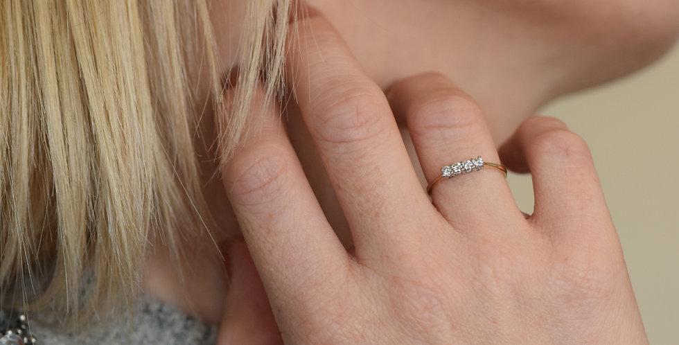 18ct Gold Diamond 0.20 Ring