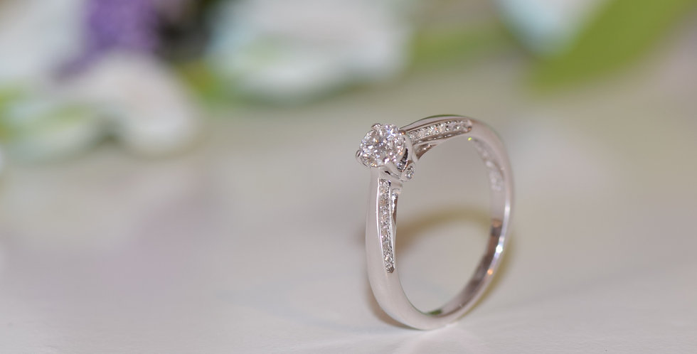 18ct White Gold FOREVER Diamond 0.40TCW Engagement Ring