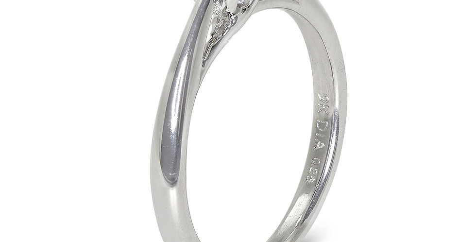 PRE OWNED: 9ct White Gold 0.25ct Diamond Solitaire Ring