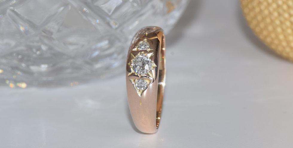 14ct Rose Gold Vintage 0.20ct Diamond Ring