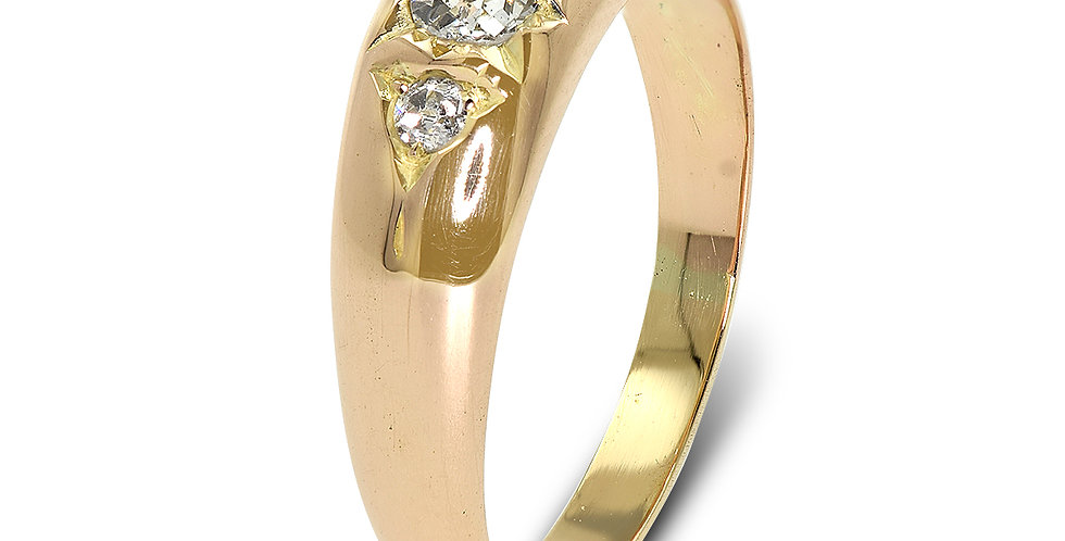 PRE OWNED: 14ct Rose Gold Vintage 0.20ct Diamond Ring