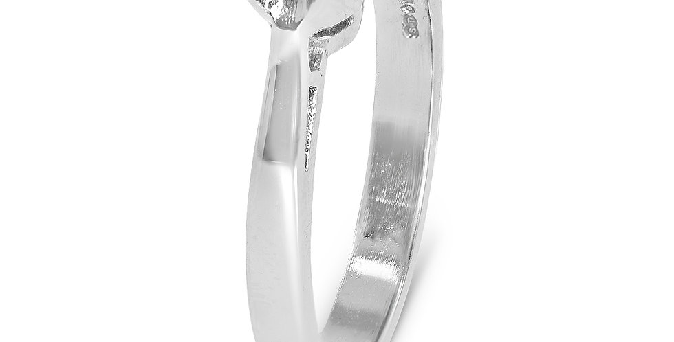 PRE OWNED: Platinum 0.33ct Diamond Solitaire Engagement Ring