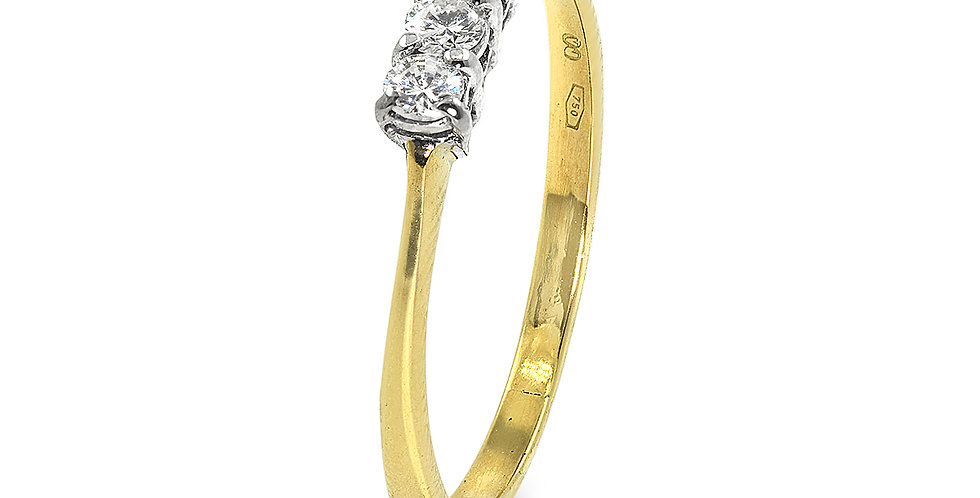 PRE OWNED: 18ct Gold Diamond 0.20 Ring