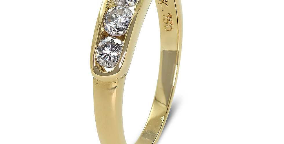 PRE OWNED: 18ct Yellow Gold 4 Stone 0.40ct Diamond Ring