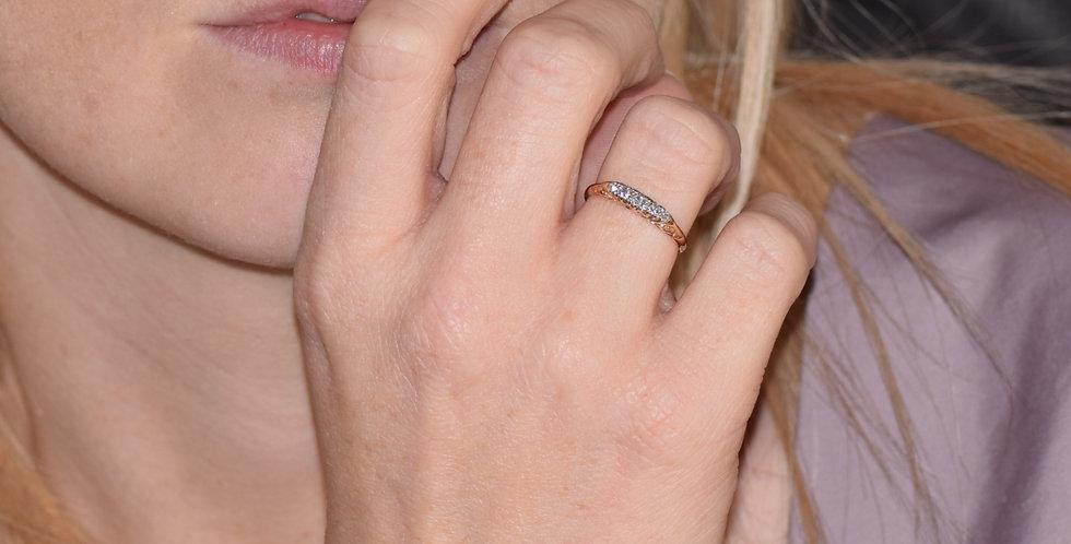 18ct Yellow Gold Vintage 0.25ct Diamond Ring