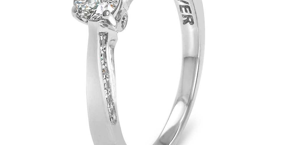 PRE OWNED: 18ct White Gold FOREVER Diamond 0.40TCW Engagement Ring