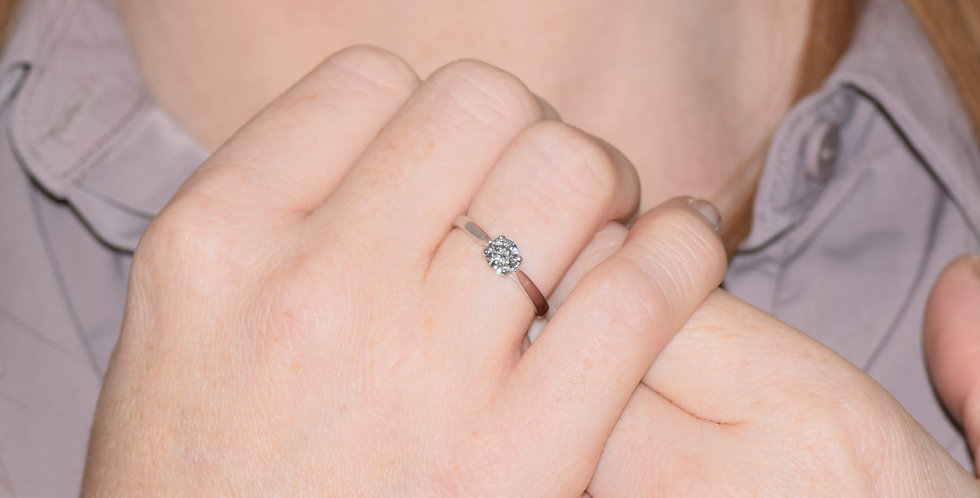 18ct White Gold Certified 0.50ct Brilliant Cut Diamond Solitaire Ring