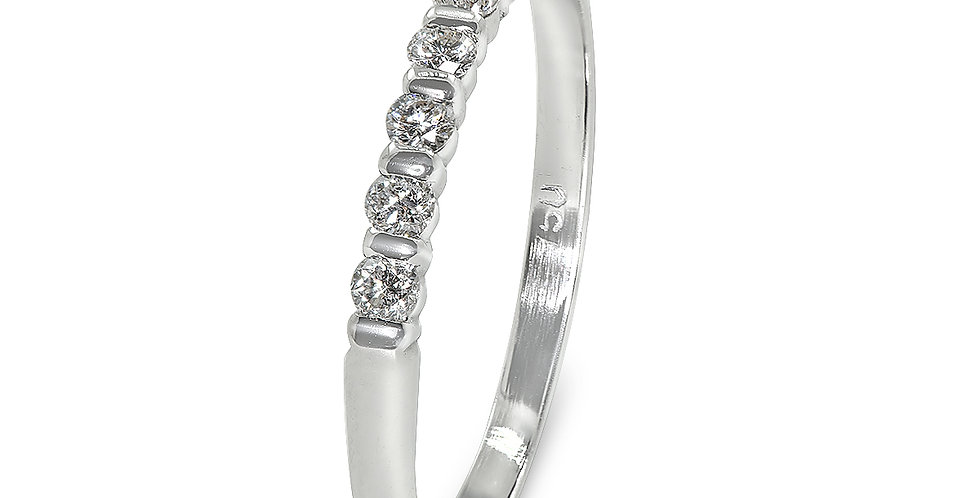 PRE OWNED: 18ct White Gold 7 Stone Diamond Ring
