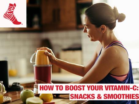 Cómo aumentar su vitamina C: Refrigerios y Licuados.