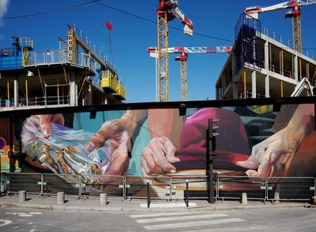 Une fresque de 650m2 en hommage aux savoir-faire de l'artisanat