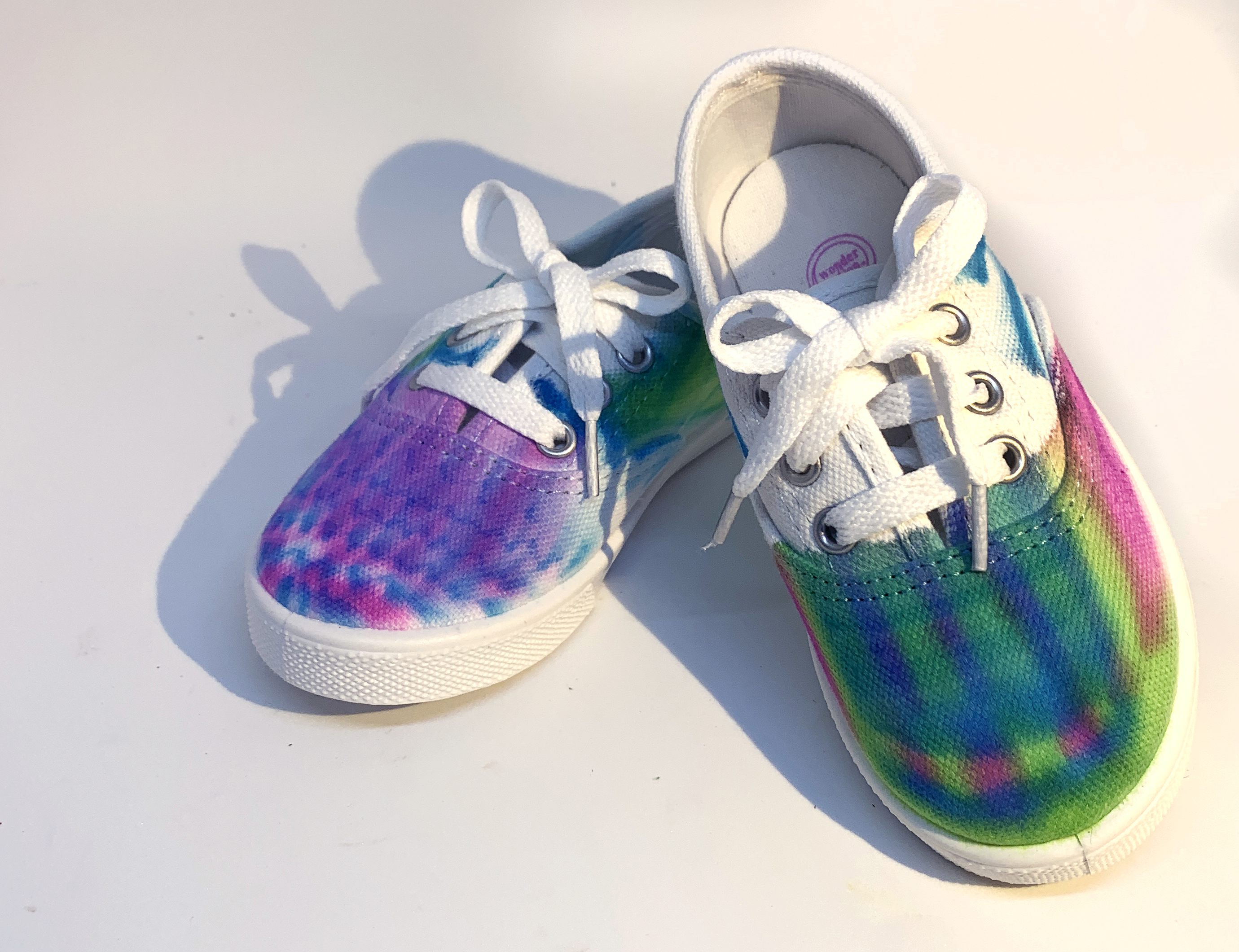 Alcohol Ink Tennis Shoes