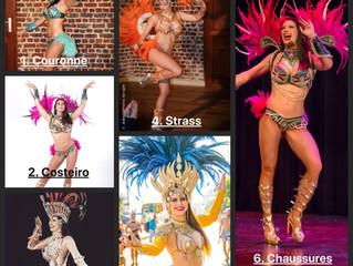 Danser avec un costume de Samba