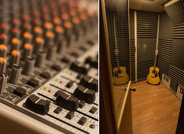 Interior of Sound Recording Studio