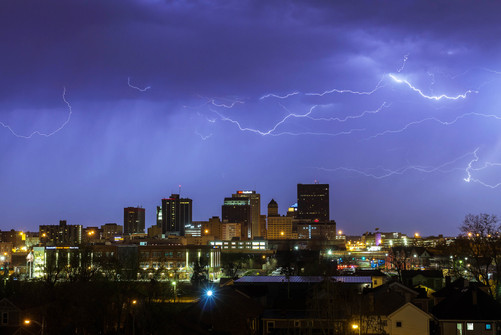 Lightning Storm over Dayton